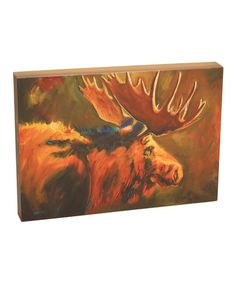 Another great find on #zulily! Moose Gallery-Wrapped Canvas #zulilyfinds