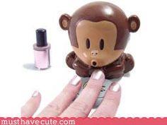 little monkey nail dryer, blows on your fingernails