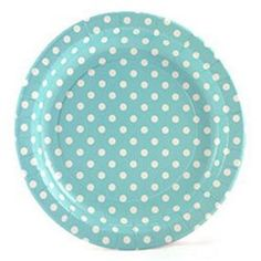 Picture 1 of Aqua Blue With White Polka Dot Plates - 9 inch - Set of 12 Blue Polka Dots, Aqua Blue, Sweet Party, Polka Dot Birthday, Colorful Party, Light Blue, Plates, Sea, Products