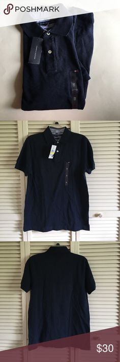 NWT Tommy Hilfiger polo Navy blue Tommy Hilfiger polo, new with tags. Tommy Hilfiger Shirts Polos