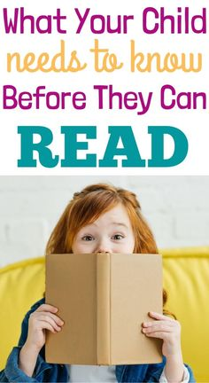 What Your Child Needs to Know Before They Can Read