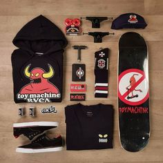 Toy machine X RVCA colab. More items in stock at www.sickboards.nl.