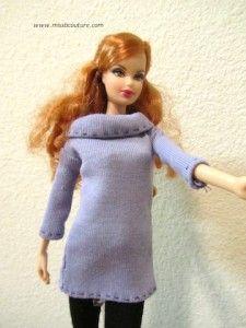 Tutorial Purple sweater for Barbie