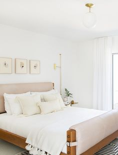 9 Light + Airy Bedrooms To Inspire Your Spring Refresh Airy Bedroom, Bedroom Green, Trendy Bedroom, Bedroom Colors, Home Decor Bedroom, Bedroom Furniture, Bedroom Ideas, Furniture Ideas, Earthy Bedroom