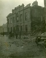 Liberty Hall showing extensive structural and artillery damage on one side