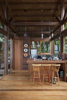 I love plywood.   Casa da Praia do Félix, a tropical beach house by Vidal & Sant'Anna