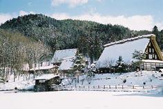 岐阜県。高山市。飛騨の里民俗村。