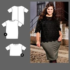 Dress and top - Stoff & Stil Couture, Curvy, Shirts, Pattern, How To Wear, Clothes, Dresses, Fashion, Big Sizes
