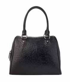 SIGNATURE a-LINE BAG IN BLACK OSTRICH I HAVE THIS BAG IN NAVY & AQUA AND LOVE THEM
