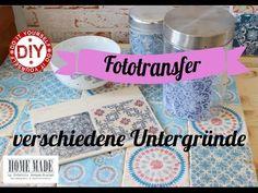 How To I Vintagefliesen Variante 2 Transfer- & Serviettentechnik I Deko Inspirationen Selbstgemacht - YouTube