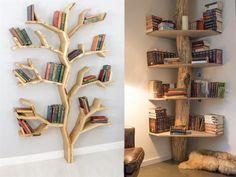 If you like the designs that break the molds and break the memorization .- Kalıpları yıkan ve ezber bozan tasarımlardan hoşlanıyorsanız bu kitaplık… If you like mold breaking and memorizing designs, you will love these library models! Diy Bookshelf Wall, Creative Bookshelves, Decorating Bookshelves, Bookshelf Design, Furniture Decor, Furniture Design, Ideas Hogar, Cute Room Decor, Futuristic Furniture
