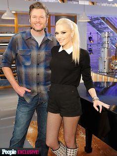 Gwen Stefani and Blake Shelton           r