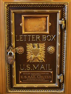 Vintage Mail Box: Cutler Mail Chute by OrangeCats, via Flickr