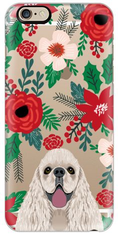 Casetify iPhone 6s Classic Snap ケース - Cocker Spaniel cute christmas holiday themed cell phone case clear transparent dog breeds by pet friendly by Pet Friendly #Casetify