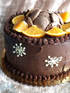 Narancsos trüffeltorta Chocolate Pastry, Chocolate Recipes, Hungarian Cake, Torte Cake, Cakes And More, Relleno, Cake Cookies, Sweet Recipes, Cookie Recipes