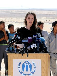 Angelina Jolie made a surprise appearance at a major UN peacekeeping summit, where she tol...