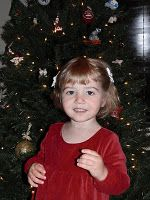 Christmas photo of Avery!  Face of an angel!