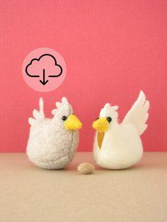 Roosting Hen PDF  easy DIY crafts  barnyard by MelissaBeePatterns