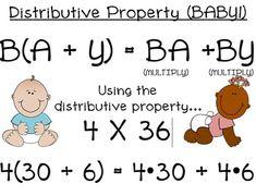 I'm a Math nerd...Distributive Property BABY Poster