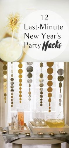 New Years party hacks, party hacks, New Years Eve, New Years party, popular pin, DIY home decor, New Year party