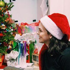 Mary spreading the Christmas cheer.