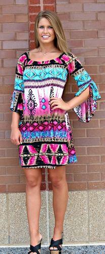 Southwest Glow *LONG* Tunic/Dress- Purple, $38.00