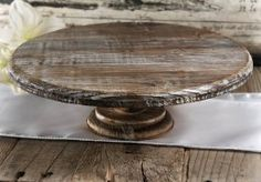 Rustic Wood Cake Stand|4 x 12in
