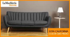 Sofa California gris medio en stock en la Muebleria OnLine