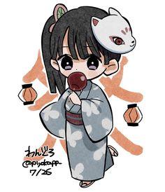 Anime Girl Neko, Cute Anime Chibi, Anime Art Girl, Kawaii Anime, Anime Angel, Anime Demon, Manga Anime, Demon Slayer, Slayer Anime
