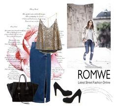 """romwe 4"" by aida-1999 ❤ liked on Polyvore featuring CÉLINE"