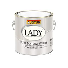 LADY Pure Nature White Jotun Lady, Panel, Living Room Inspiration, Pure White, Paint Colors, Lady Lady, Colours, Pure Products, Nature