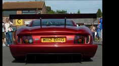 This is the 2000 TVR Cerbera Speed 12, a 7.7 liter 1000+ bhp V12 powered hypercar.