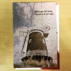 "15 piece promotional jigsaw! We made 50 like these for a customer in the UK! Order was placed via http://puzzlesprint.co.uk Great idea for your ""thank you"" cards! #puzzlesprint #photopuzzle #jigsaw #puzzle #jigsawpuzzle #promotional #thankyou #thankyoucard"