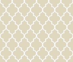 Khaki Quatrefoil Fabric and Wallpaper. This shade, 30 others or request your own shade from Sparrowsong @ Spoonflower!