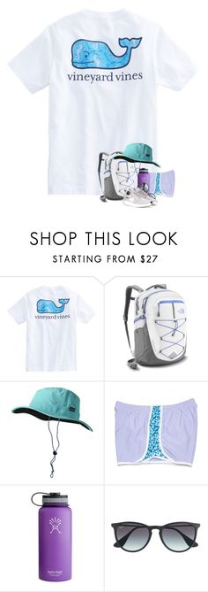 """""""hiking!"""" by madelinelurene ❤ liked on Polyvore featuring The North Face, Patagonia, CO, Hydro Flask, Ray-Ban and NIKE"""