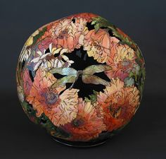 red - poppies - gourd - Whitney Peckman