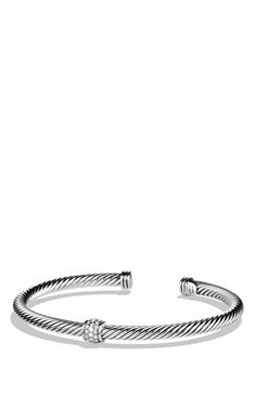 David+Yurman+'Cable+Classics'+Bracelet+with+Pavé+Diamonds+available+at+#Nordstrom