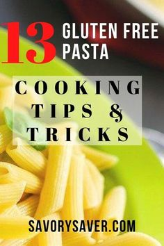 Learn how to cook gluten free pasta with these 13 tips and tricks. Sugar Free Recipes, Gluten Free Recipes, Vegan Recipes, Delicious Recipes, Gluten Free Pasta, Vegan Gluten Free, Pasta Puttanesca, Pesto Recipe, Vegan Pasta