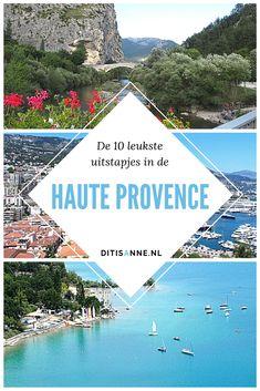 Het is één van de mooiste streken van Frankrijk: de Haute Provence. Net achter het drukke gewoel aan de Côte d'Azur maar wel met het heerlijke zonnige klimaat van Zuid-Frankrijk! Dit zijn de tien leukste uitstapjes in de Haute Provence! #hauteprovence #zuidfrankrijk #castellane #reistips #reisblog #travelblog Haute Provence, Antibes, Mediterranean Sea, Camping, Outdoor Decor, Travel, French, Viajes, Europe