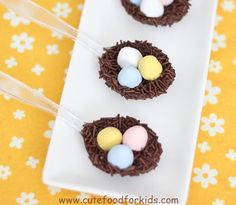 Cute Food For Kids?: Chocolate Bird Nest on Spoon for Easter