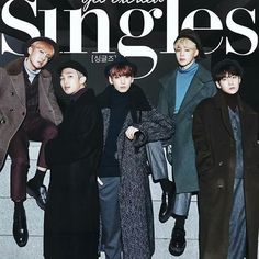 Where's V and Jin? Since this is singles magazine does that mean they aren't single....?!