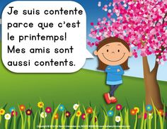 French spring easy reader: a girl talks about the spring activities her friends enjoy. Easy Reader, Spring Activities, French, Reading, Spring, French People, Word Reading, French Language, French Resources