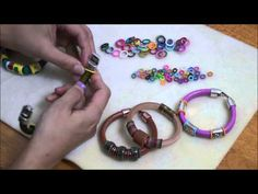 Using Colorful Rubber O-Rings on Regaliz Greek & Euro Leather Cord Tutorial - Beginner