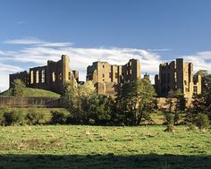 Robert Dudley created this ornate palace to impress his beloved Queen in 1575.  It is Kenilworth Castle and the Queen in question was Elizabeth I.  Read about it in Sir Walter Scott's novel Kenilworth or better yet, pay a visit.