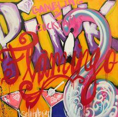 Flamingo, Selwyn Senatori - Acryl – Kunst.nl