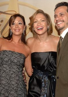 Jennifer Lopez, Marc Anthony and Leah Remini