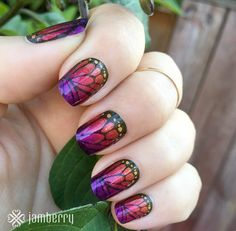 Whoa, what a combo!   Jamberry nail wraps are so fun because you can layer and mix & match. Take advantage of our buy 3 get 1 free deal!  www.torpal.jamberrynails.net