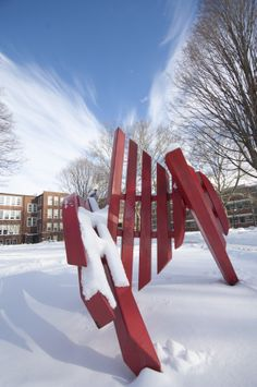 Goshen is a nationally-ranked Christian liberal arts college in Indiana known for leadership in international education, sustainability and social justice. College Fun, Goshen College, Liberal Arts College, Christian College, Social Justice, Indiana, Sculpture, Winter, Sculptures