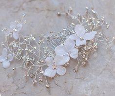 Romantic Flowered Vine Bridal Headpiece ~ Ethereal