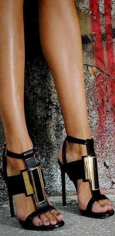 Saint Laurent -- 35 High Fashion Heels On The Street - Style Estate -